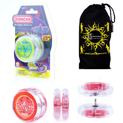 Duncan PULSE LED YoYo  Professional Light-Up Bearing String Tricks Yo Yo + Bag