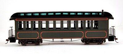 Bachmann On30 Scale Train Passenger Coach/Observation Olive 26202