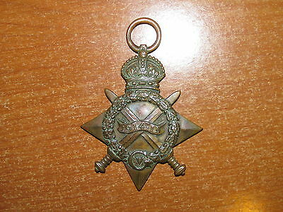 WW1  British  Medal 1914-1915 Star named 1st South African Infantry