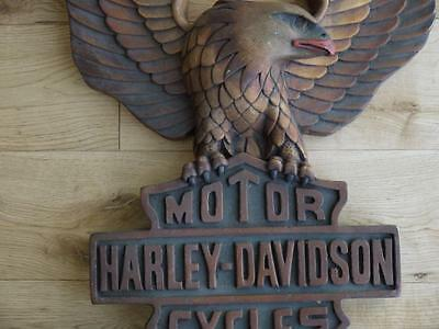 Amazing Wooden Carved Harley Davidson Motorcycle Wall Advertising Sign Man Cave?