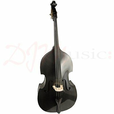 Harlequin Black 3/4 Size Double Bass