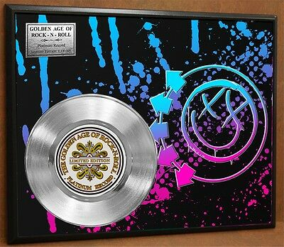 BLINK 182 Limited Poster Art Platinum Record Rare Music Memorabilia Free Ship