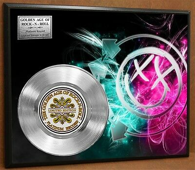 BLINK 182 LTD Edition Poster Art Platinum Record Music Memorabilia Free Ship