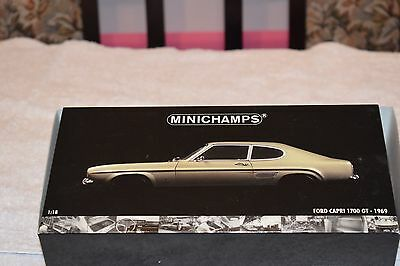 1969 FORD CAPRI 1700GT 1: 18 MINICHAMPS MODEL - Box opened for these photos!