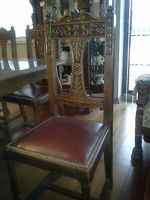 Antique Turn of the Century Dining Room Chairs - Set of 6 (six)