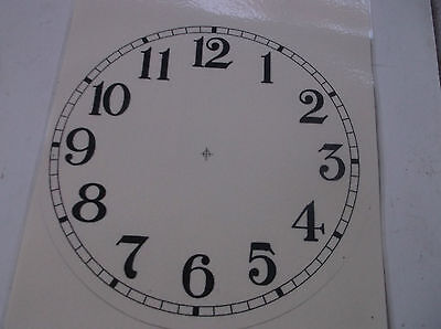"Paper Laminated Clock Dial 7 5/8""DIAM DELICATE CREAM Face"
