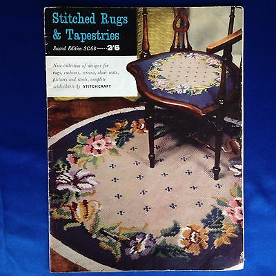 Vintage Stitched Rugs And Tapestries Booklet SC68 by Stitchcraft