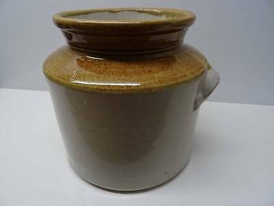 Vintage Glazed Stoneware Earthenware Household Jar c1920's