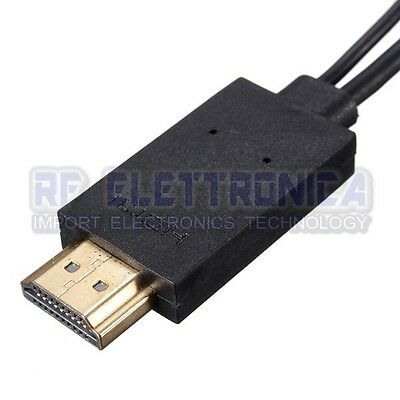 MHL Micro USB to HDMI 1080P Media HD TV HDTV Cable Charger