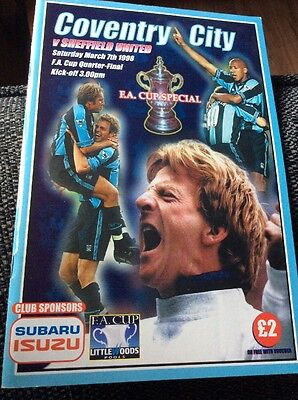 Coventry City v Sheffield United 1997/98 FA Cup Programme