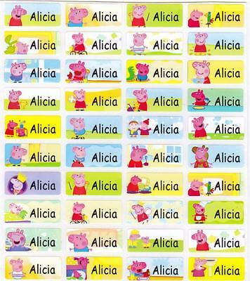 120 PEPPA PIG Personalized Name Labels-SCHOOL,DAYCARE,NURSERY(Buy 5 get 1 FREE)
