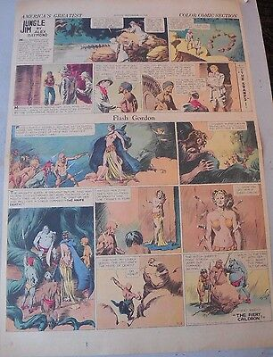 Flash Gordon Sunday by Alex Raymond from 9/15/1935 Large Full Page Size!