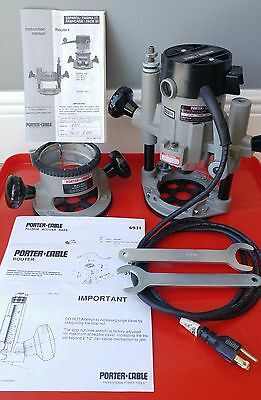 Porter Cable Router Set 6902 Motor - 6931 Plunge and 1001 Fixed Base