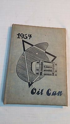 Vintage 1954 Oil City Pa. High School Yearbook the Oil Can