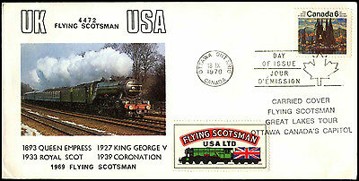 Canada 1970 Group Of Seven FD, Flying Scotsman Locomotive Cover #C38599