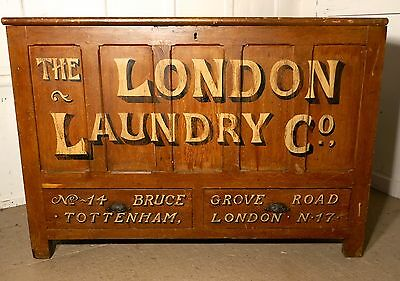 Very Large Victorian Mule Chest Laundry Advertising Piece Shop Display