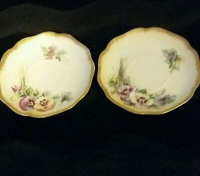 """Two Rosenthal Germany Classic Fruit Saucers Madeline Hand painted 5.25"""""""