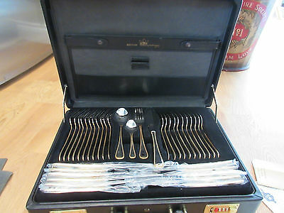 70 Piece Bestecke Solingen 23/24k Gold Plated Cutlery Set Cased 12 Place Setting
