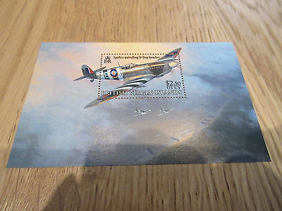 Stamps VIRGIN ISLANDS SPITFIRE PATROLLING D.DAY BEACHES U/M,M/S,SG.MS1207 Minish