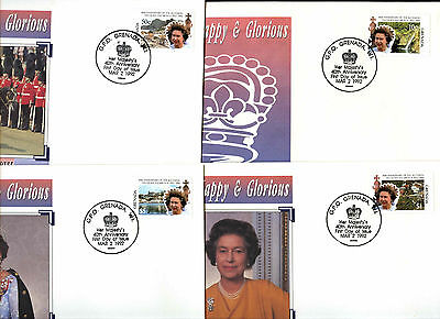 Grenada 1992 Accession 40th Anniv FDC Set #C38723