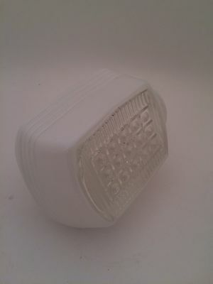 Vintage Retro White Clear Waffle Texture Wall Globe Shade Light Cover 3 Inch