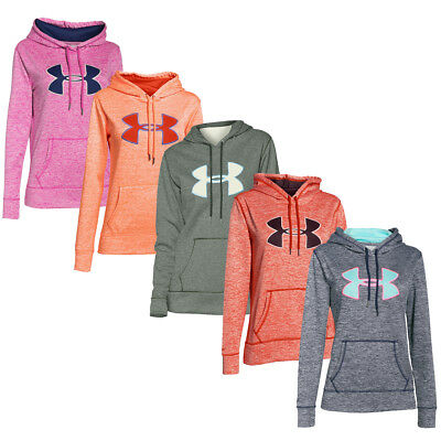 Under Armour Womens UA Storm Armour Fleece Twist Big Logo Hoody Pullover