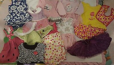 Lot of 22 baby clothes 6-9 months pants outfits dresses  carter's