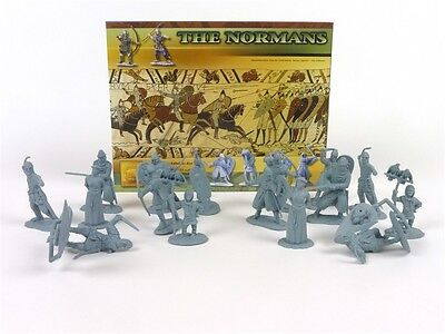 Conte Collectibles Normans Plastic Figures 54mm Toy Soldiers Set 1