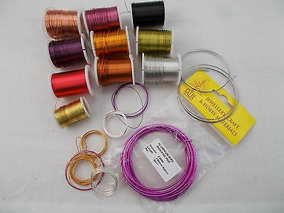 Mixed Lot Of Beading Wire For Jewellery Making/ Craft Supplies