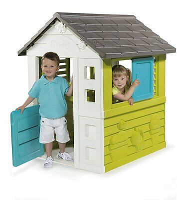 Smoby Nature House Childrens Outdoor Playhouse Kids Garden Play House Pretty NEW