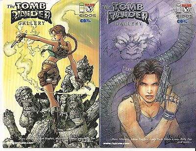 The TOMB RAIDER Gallery Lara Croft COVER A & B Foil Variant CVR Marc Silvestri