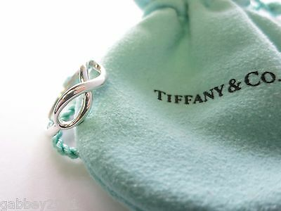 Tiffany & Co. Sterling Silver Infinity Ring Band Size 6.5 w/ Pouch