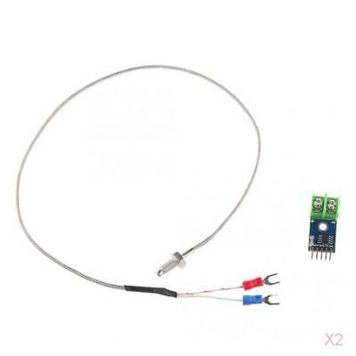 2Pcs Mini MAX6675 Module+K Type LCD Digital Thermometer Thermocouple Sensor