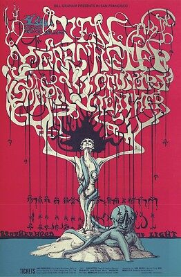 MINT/PSYCHEDELIC Ten Years After 1968 BG 145 Fillmore Poster