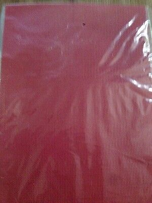 Red Perforated paper 14 count 2 sheets 20 x 30 cm NEW
