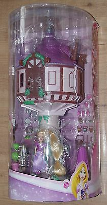 Disney Store Rapunzel Tower Playset Tangled Doll Pascal figurine
