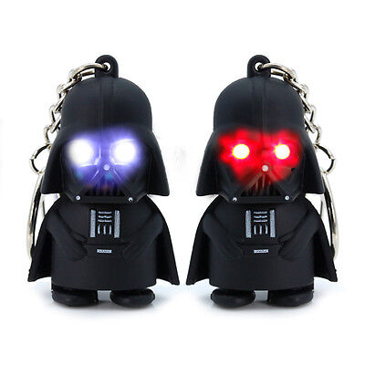 Darth Vader LED Keyring, with two sounds. Awesome Stocking Filler! UK STOCK