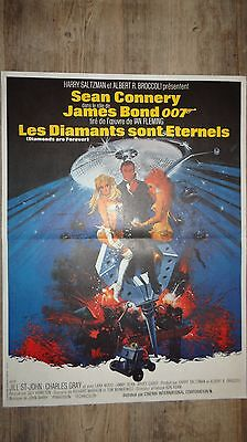 james bond 007 LES DIAMANTS SONT ETERNELS ! sean connery affiche cinema