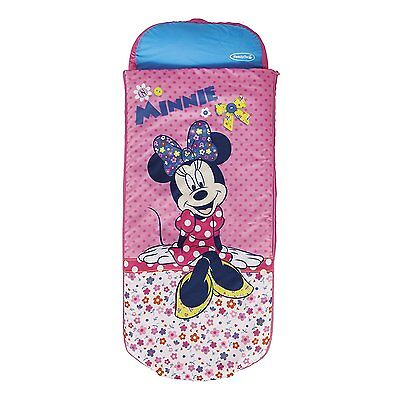 Kids Childs Junior Girls Disney Minnie Mouse Airbed Camping Sleeping Bag