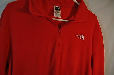 XL Red THE NORTH FACE Zippered Pullover/Base Layer for Skiing/Hiking