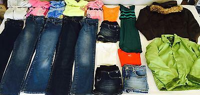 Lot #174 - 19 Girls Clothing Sz 14 16 Jeans Tops Hoodies Clothes JUSTICE & MORE