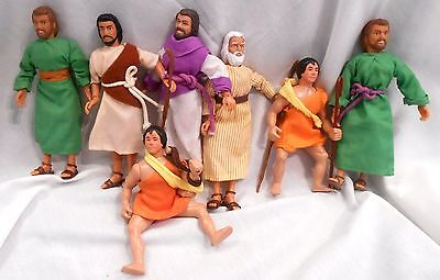 Bible Action Figures Original Clothes Shoes 7 Used VGC Mego Type