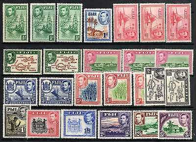 Fiji exceptional set to 5/-Cat £250 with perfs, shades  print errors lightly mm