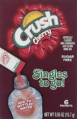 4 Boxes Cherry Crush Singles To Go Drink Mix  36 Packets Total