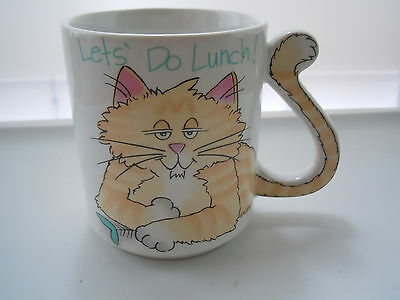 Lets do Lunch Cat Mug With Tail Handle