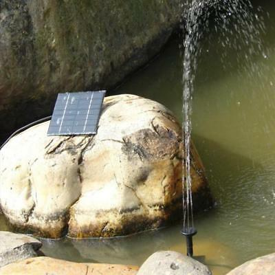Solar Powered Water Pond Pump Panel Home Garden Pool Watering Fountain 0.8W