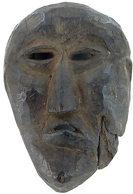 cLATE 1800s MIDDLE HILLS AREA HIMALAYAN CARVED WOODEN MASK, VERY IMPRESSIVE! #3