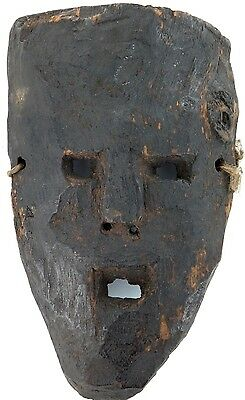 cLATE 1800s MIDDLE HILLS AREA HIMALAYAN CARVED WOODEN MASK, VERY IMPRESSIVE! #4