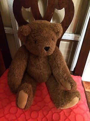 """Adorable Vermont Teddy Bear~ Jointed 16"""""""