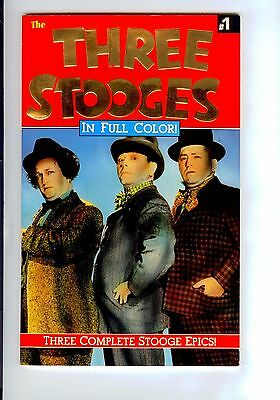 Malibu Graphics:  THE THREE STOOGES#1 FULL COLOR REPRINT OF 48 PAGES OF COMICS